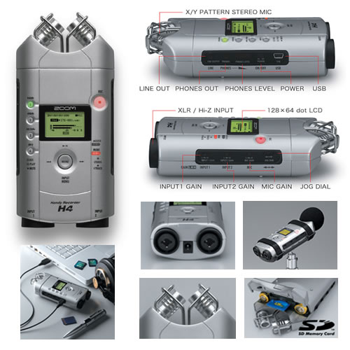 Zoom H4 Samson Digital Recorder, $299
