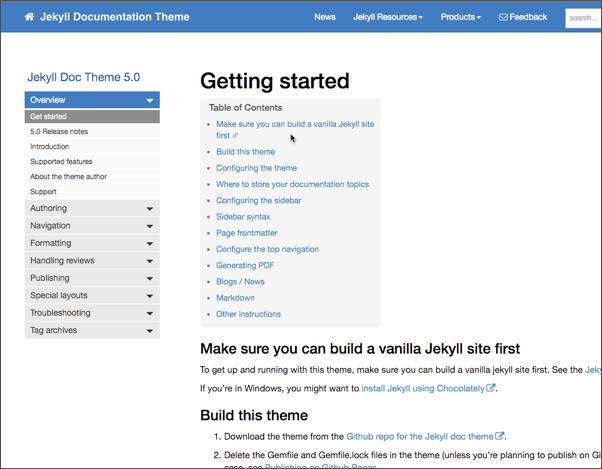 Documentation Theme for Jekyll version 5.0