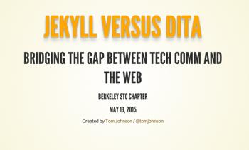 Jekyll vs DITA presentation