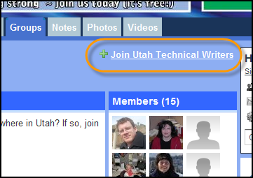 Join Utah Technical Writers Group link