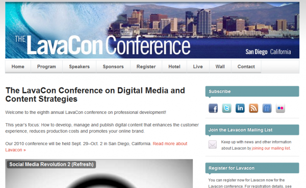 Lavacon Conference Website