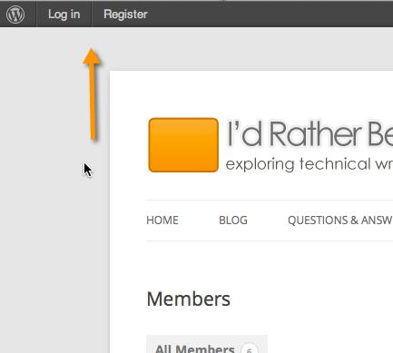 Register and Login links
