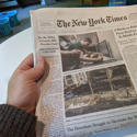 Experiments: Will reading a physical newspaper improve the way I consume news?