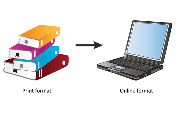 moving from print material to online