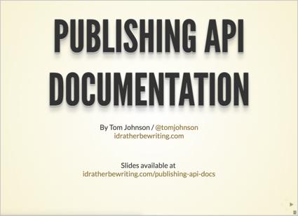 Publishing API documentation