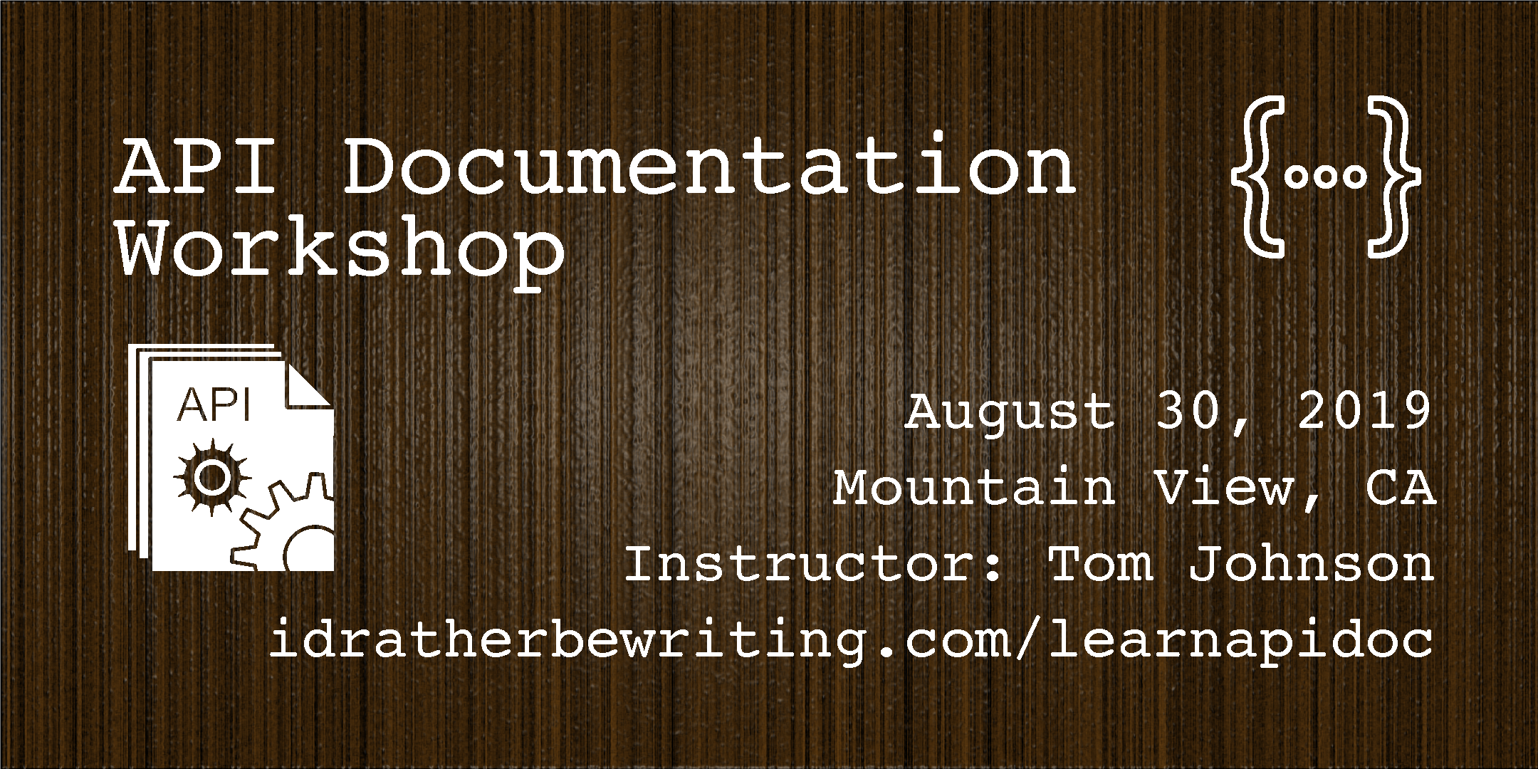 API Documentation Workshop
