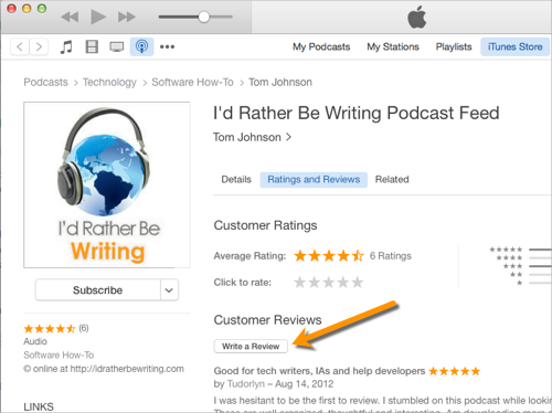 You can help support my podcast by reviewing it in iTunes.