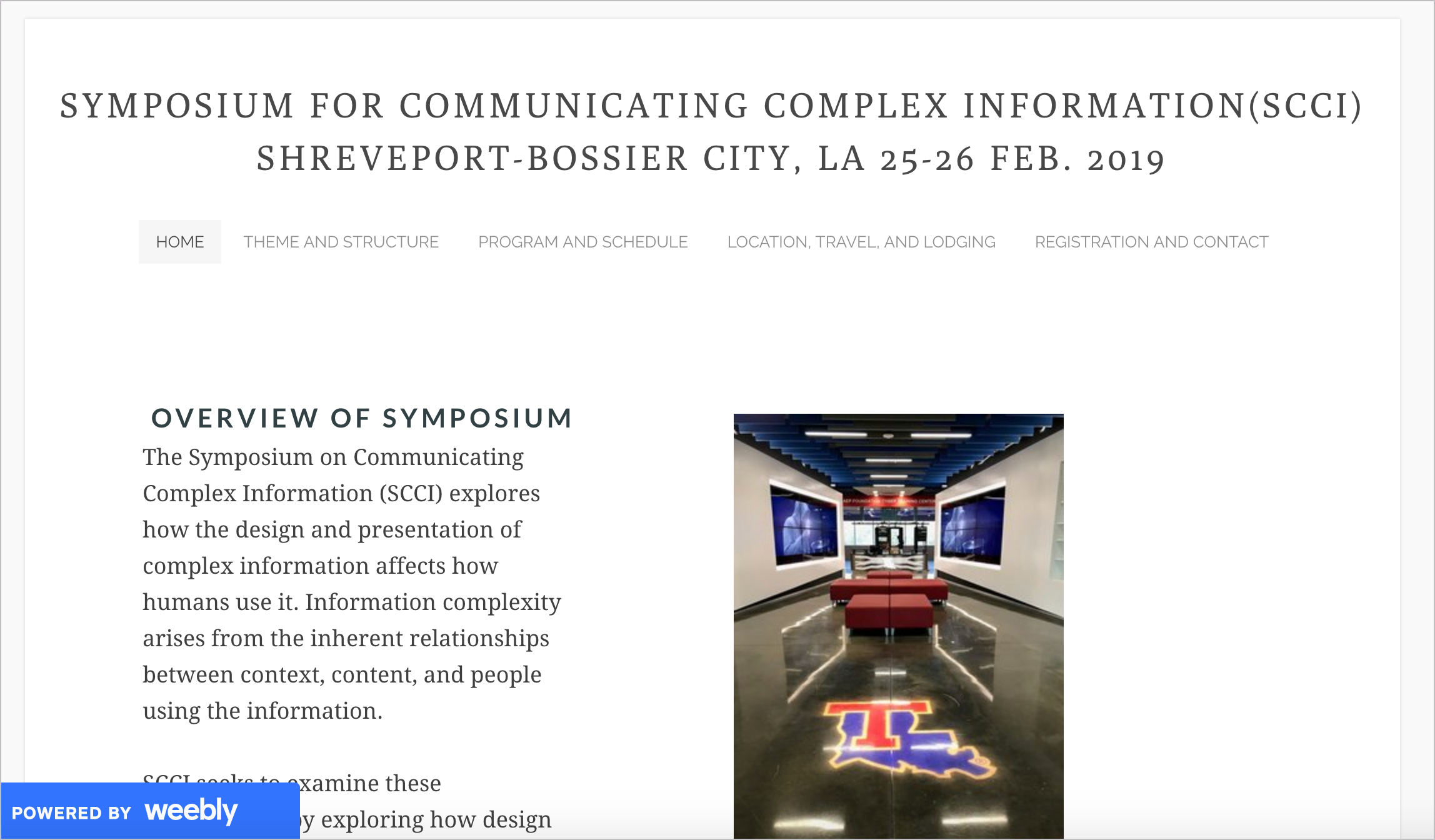 Symposium for Communicating Complex Information (SCCI)