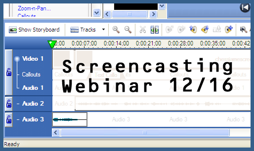 Screencasting webinar on Dec. 16