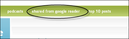 Shared items from my Google Reader