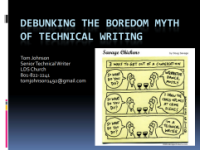 Debunking the Boredom Myth about Technical Writing