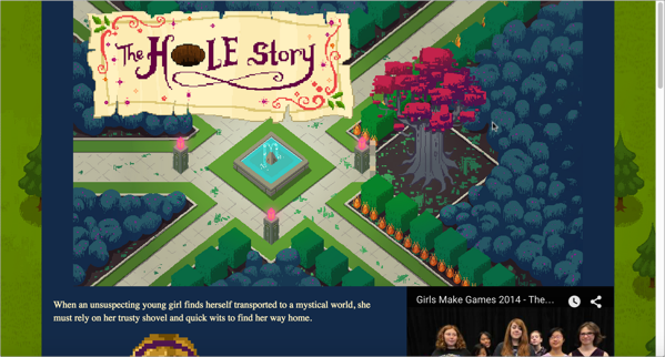 The Hole Story, Girls Make Games