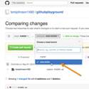 Editing workflows and reviews through Github's pull requests