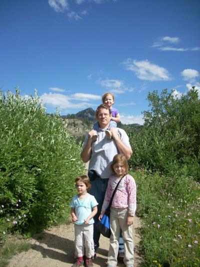 Up at Bear Lake, Utah with kids