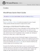 WordPress Codex Page