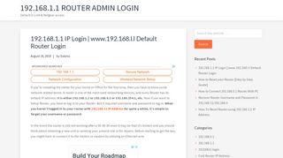192.168.1.1 Router admin login - Default D-Link & Netgear access