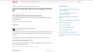 How to check the AMCAT score using the AMCAT ID - Quora