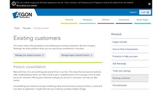 Existing customer - Aegon