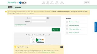 Sign In - Retiready from Aegon