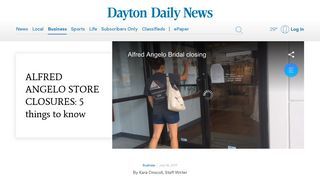 Alfred Angelo bridal store closings: 5 things to know - Dayton Daily News