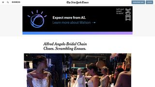 Alfred Angelo Bridal Chain Closes. Scrambling Ensues. - The New ...