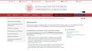AlmaLaurea — University of Bologna