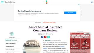 Amica Mutual Insurance Company Review - The Balance