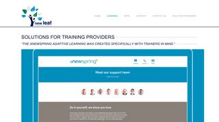 Training provider solutions in South Africa - New Leaf Technologies