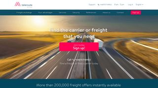 Freight exchange: forwarders and carriers l Teleroute