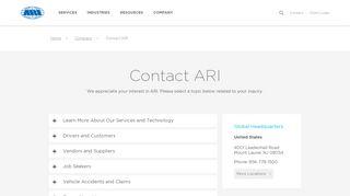 Contact - ARI Fleet