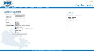 ARI Supplier Locator - Search