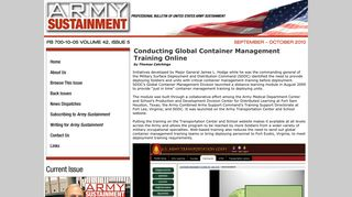 Army Sustainment: Conducting Global Container Management ...