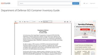 Department of Defense ISO Container Inventory Guide - PDF