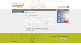 Assiniboine Credit Union - Sign Up Now