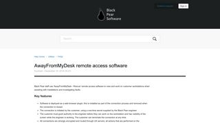 AwayFromMyDesk remote access software – Help Centre