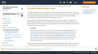 The IAM Console and Sign-in Page - AWS Identity and Access ...