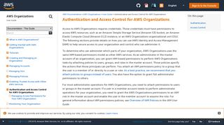 Authentication and Access Control for AWS Organizations - AWS ...