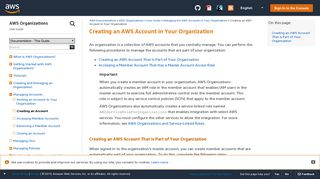 Creating an AWS Account in Your Organization - AWS Organizations