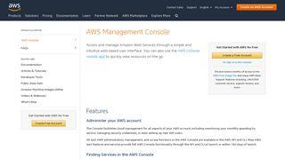 AWS Management Console - AWS - Amazon.com