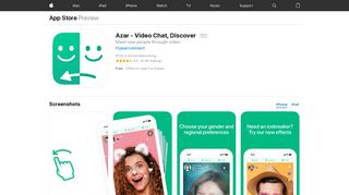 Azar - Video Chat, Discover on the App Store - iTunes - Apple