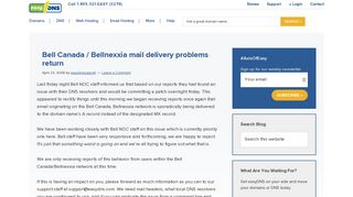 Bell Canada / Bellnexxia mail delivery problems return - easyDNS