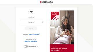 Public Login - BOK Financial