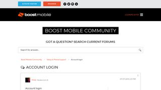 Account login - Boost Mobile Community