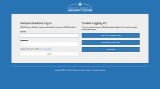 NDUS Campus Solutions - Log In