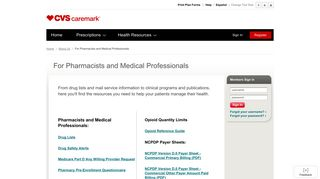 Caremark - For Pharmacists and Medical Professionals