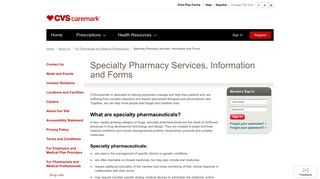 Caremark - Specialty Pharmacy Services, Information and Forms