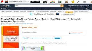 Amazon.com: CengageNOW on Blackboard Printed Access Card for ...