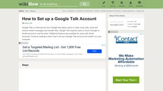 How to Set up a Google Talk Account: 9 Steps (with Pictures)