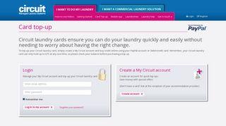 Circuit Card top up - Circuit.co.uk