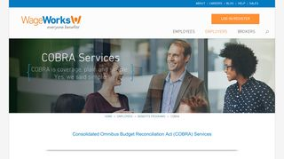Employer COBRA Health & Benefits Administration | WageWorks ...